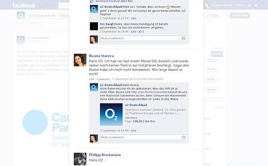 o2 Germany bad customer service on social media