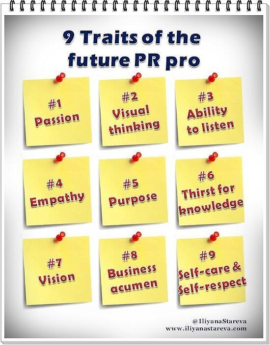 9 traits of the future PR pro by Iliyana Stareva