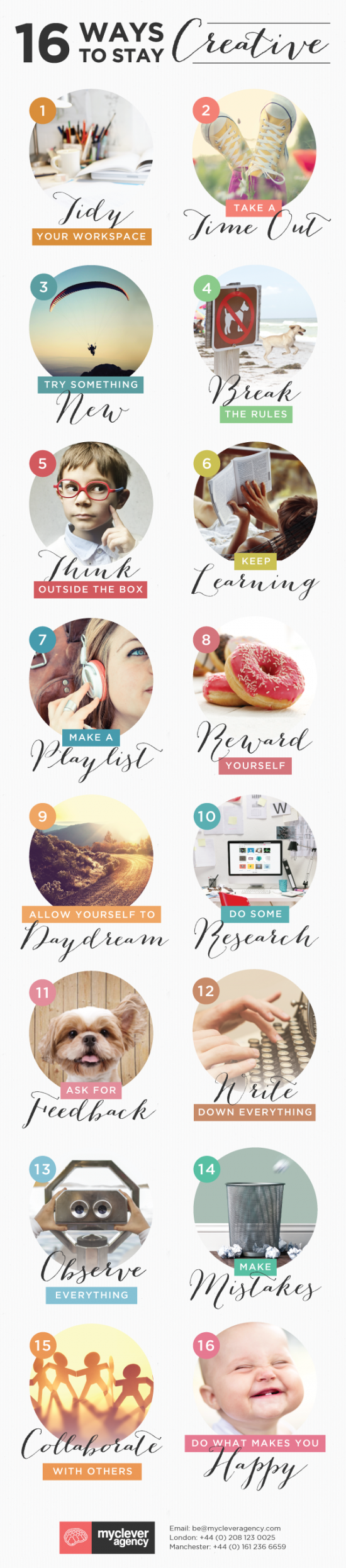 16 ways to stay creative Infographic
