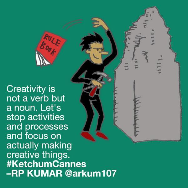 Creativity is not a verb, it's a noun