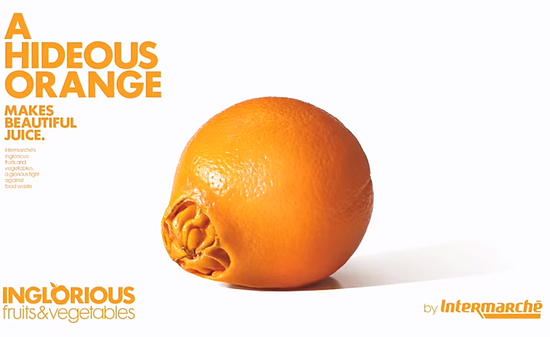 the hideous orange - Intermarche campaign