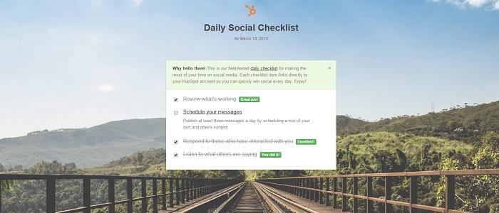 checklistmanagesocialmediain20minutesaday