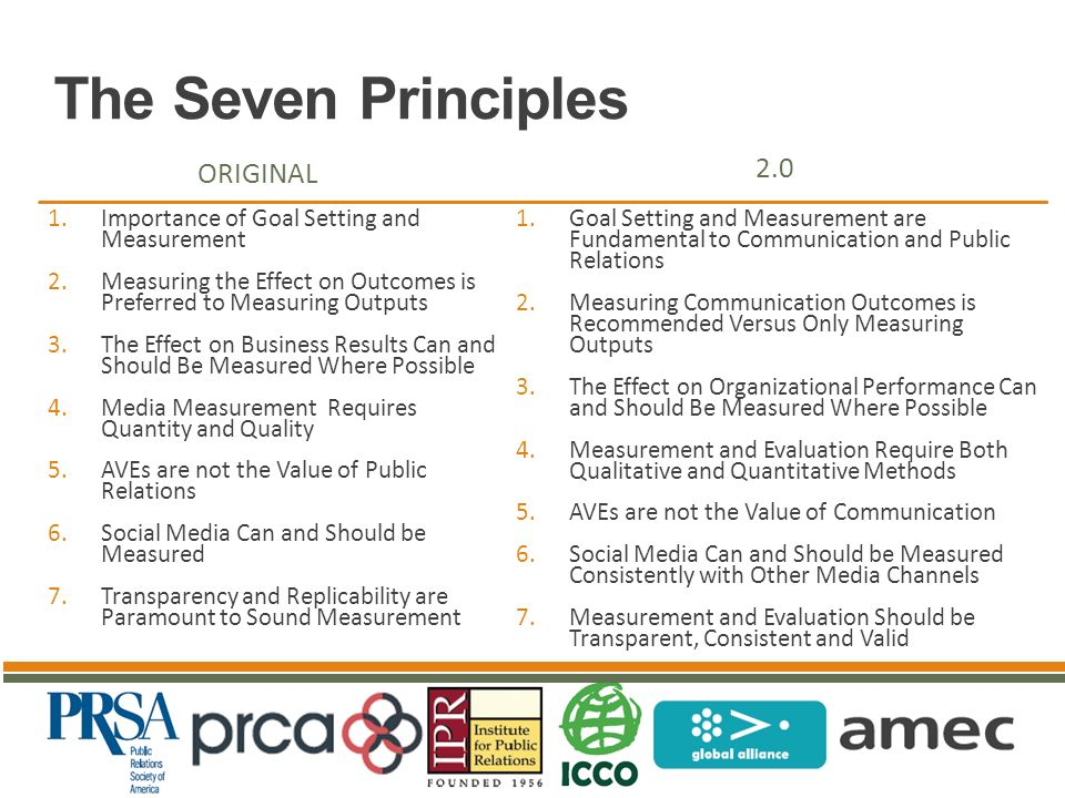 Barcelona Principles 1.0 and 2.0