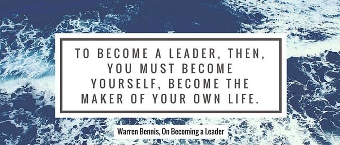 Warren Bennis quote on leadership