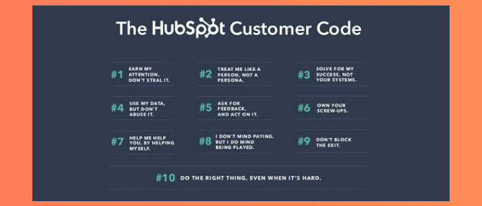 the 10 key tenets of the customer code by HubSpot