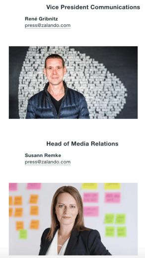 zalando press contacts in newsroom