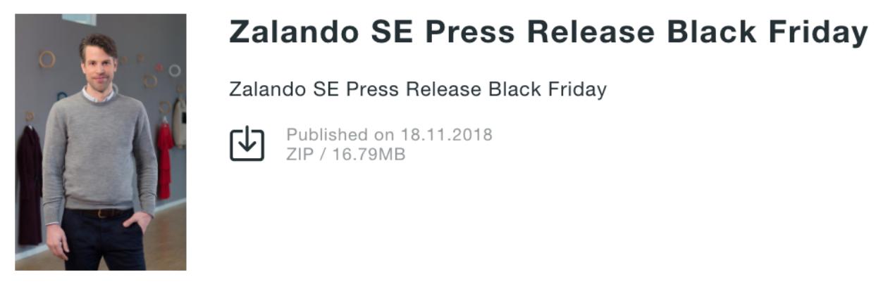 zalando press release