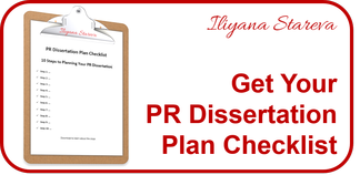 CTA PR Dissertation Plan Checklist