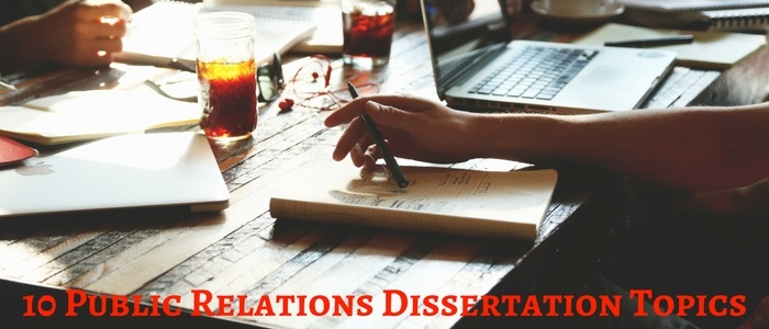 Public relations dissertation topics