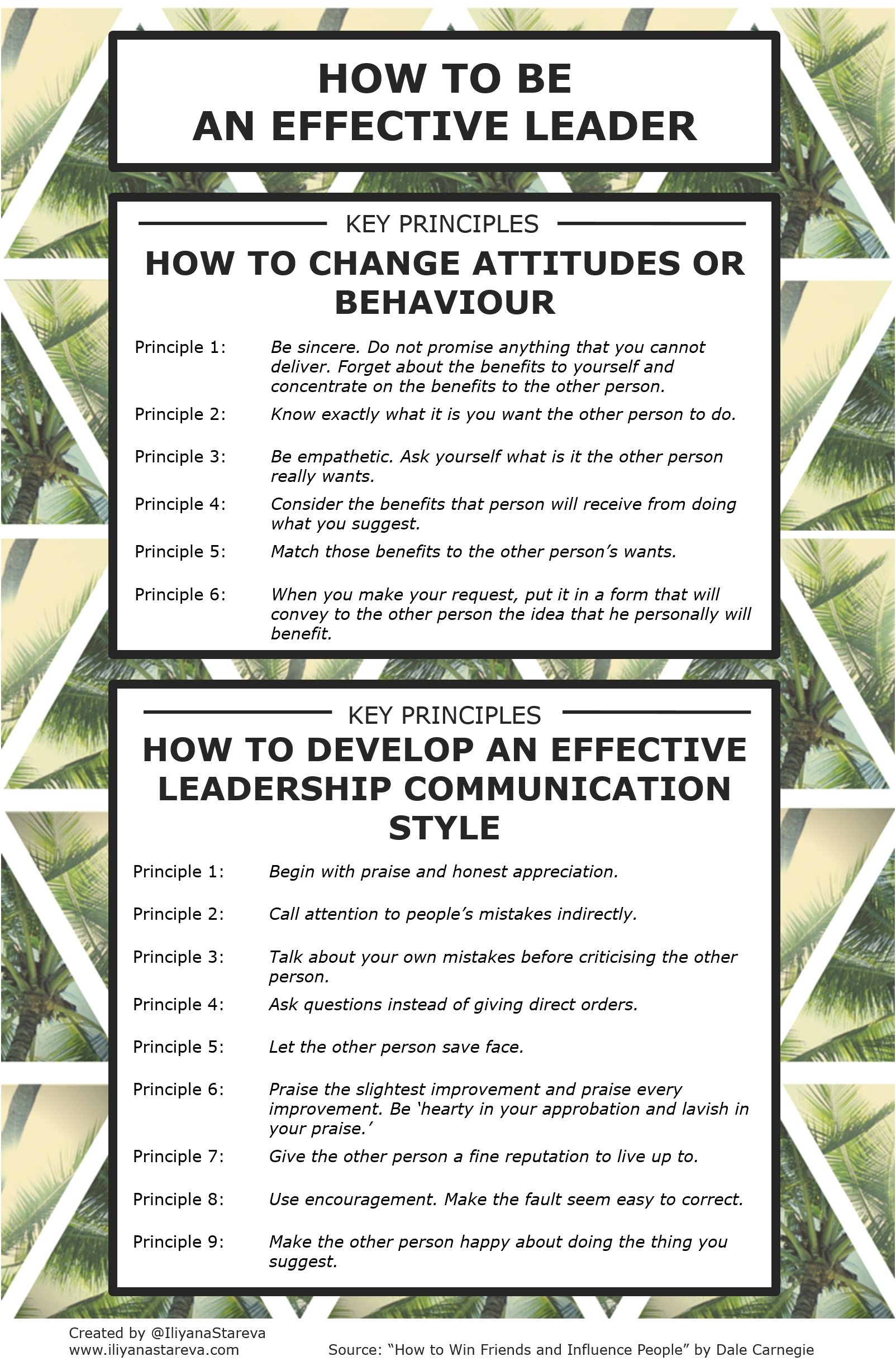 How To Be An Effective Leader Infographic
